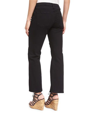 Image 2 of 4: Le Crop Mini Boot-Cut Jeans, Film Noir