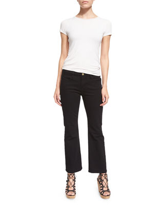 Image 4 of 4: Le Crop Mini Boot-Cut Jeans, Film Noir