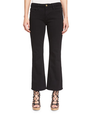 Image 1 of 4: Le Crop Mini Boot-Cut Jeans, Film Noir