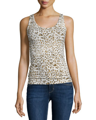 Majestic Paris for Neiman Marcus Animal-Print Stretch Tank