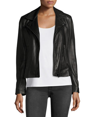 Iro Han Leather Motor Jacket