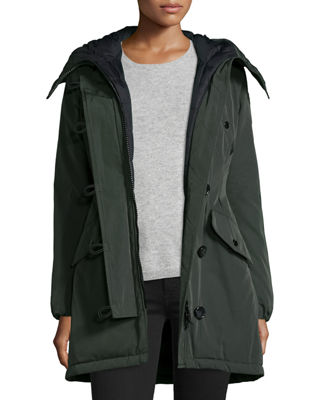 Moncler Aredhel Hooded Down Fur-Trim Jacket
