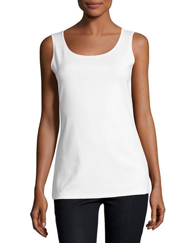 Long Scoop-Neck Tank