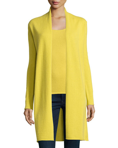 Neiman Marcus Cashmere Collection Long Cashmere Duster Cardigan,
