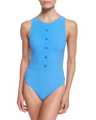 Hanna Button-Front One-Piece Swimsuit
