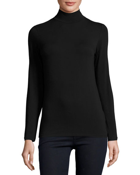 Majestic Filatures Soft Touch Mock Turtleneck Top