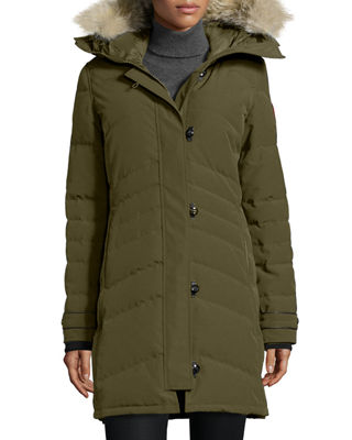 Image 1 of 6: Lorette Fur-Hood Down Parka