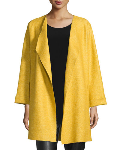 Lana Fantasia Topper Coat, Plus Size