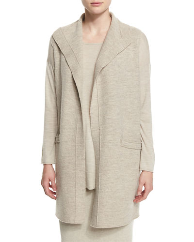 Eileen Fisher Icon Boiled Wool Long Vest