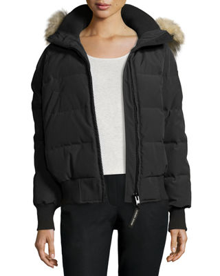 Image 1 of 2: Savona Hooded Quilted Bomber Jacket