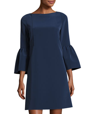 Lafayette 148 New York Marisa Bell-Sleeve Shift Dress
