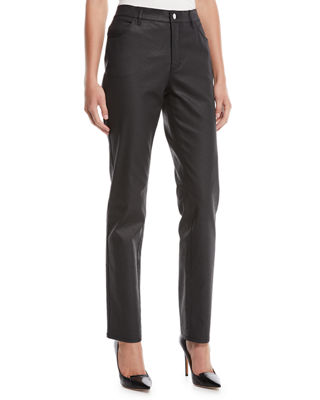 Lafayette 148 New York Thompson Waxed Denim Slim-Leg