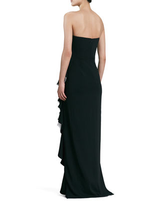 Strapless Colorblock Gown