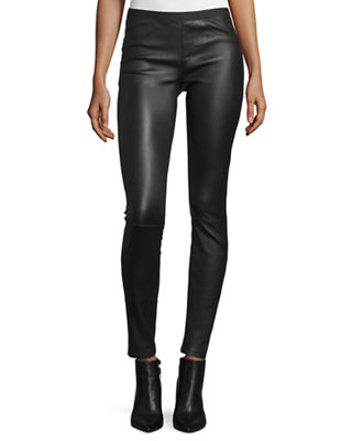 Image 1 of 4: Leather Ankle Leggings