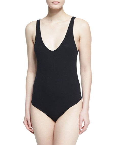 Image 1 of 2: ATM Anthony Thomas Melillo V-Neck Tank Bodysuit