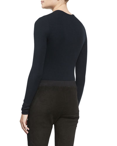 Long-Sleeve Crewneck Bodysuit