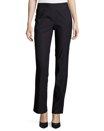 NIC+ZOE Wonderstretch Straight-Leg Pants, Plus Size