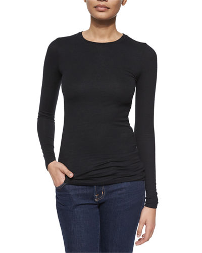 Long-Sleeve Crewneck Jersey Tee
