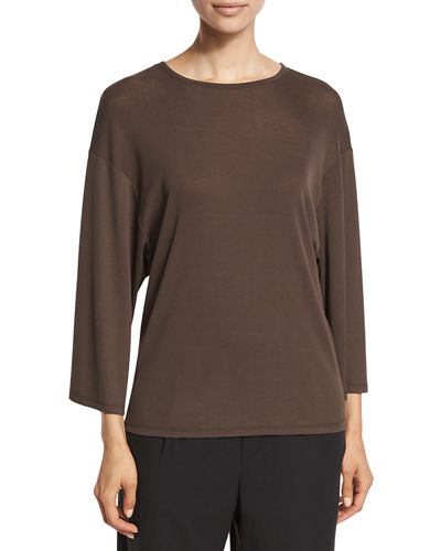 Vince Wide-Sleeve Cotton Jersey Top