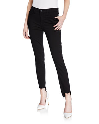 Image 1 of 3: Le Skinny de Jeanne Raw Stagger-Hem Jeans