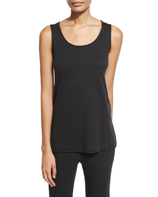 Joan Vass Scoop-Neck Cotton Interlock Tunic/Tank, Plus Size