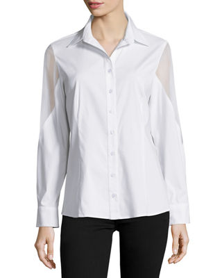 Josie Burnout Button-Down Blouse