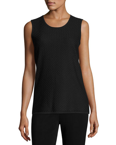 Round-Neck Sleeveless Tank, Petite