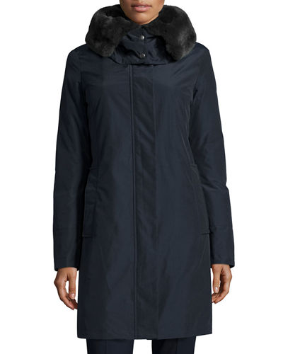 Bow Bridge Hooded Tech-Fabric Jacket
