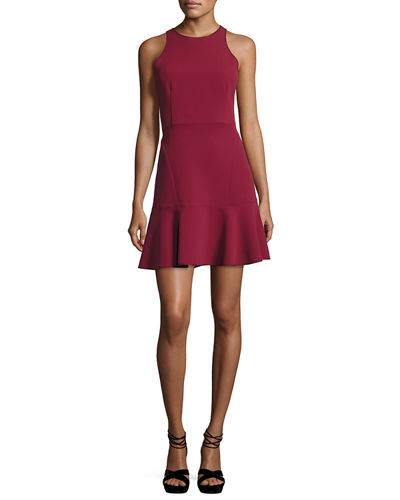 Theory Felicitna Crepe Fit & Flare Dress