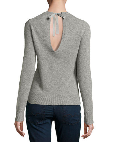 Theory Salomina Cashmere Tie-Back Sweater