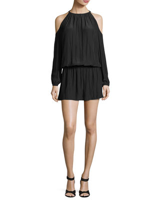 Ramy Brook Lauren Cold-Shoulder Blouson Dress