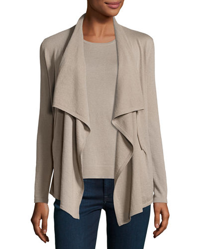 Neiman Marcus Cashmere Collection Cashmere Zip-Front Cardigan