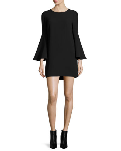 Elizabeth and James Aurora Bell-Sleeve Mini Dress
