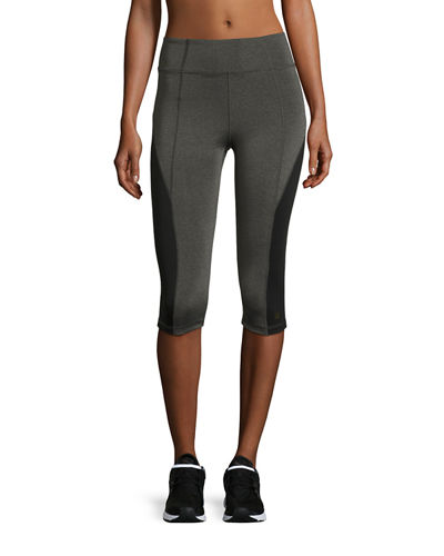 Aurum Colorblocked High-Rise Capri Leggings