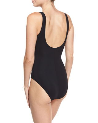 Twist Underwire One-Piece Swimsuit (D+ Cup)