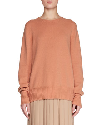 Sibel Oversized Wool And Cashmere-Blend Sweater, Light Orange