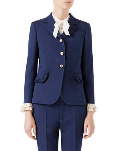 Gucci Silk-Wool Jacket and Matching Items