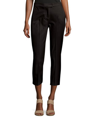 Image 1 of 2: Stretch-Cotton Cropped Pants, Petite