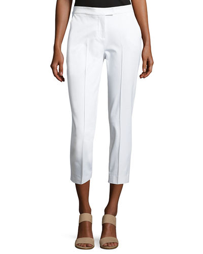 Misook Collection Stretch-Cotton Cropped Pants, Petite