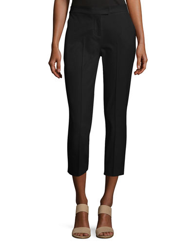 Stretch-Cotton Cropped Pants, Plus Size