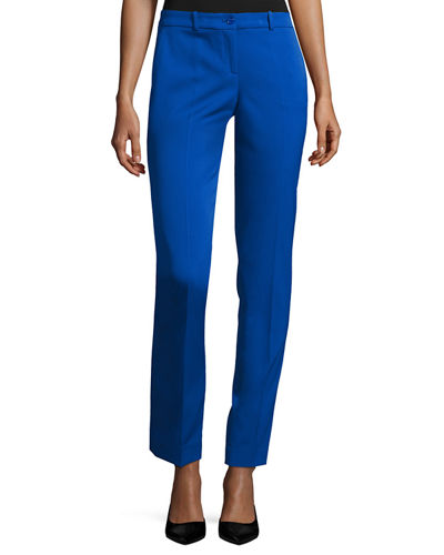 Michael Kors Samantha Wool-Blend Skinny Pants