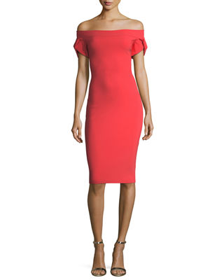 Chiara Boni La Petite Robe Maelle Off-the-Shoulder Sheath