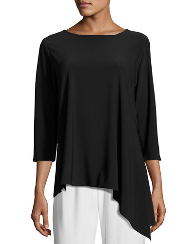 3/4-Sleeve Side Fall Top