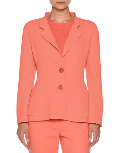 Two-Button Notch-Collar Jacket