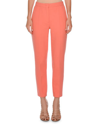 Agnona Cropped Flat-Front Trousers