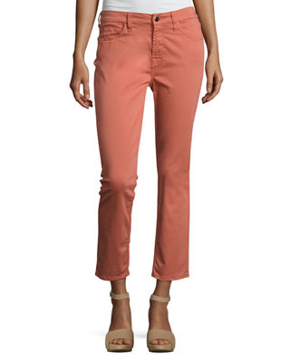 Image 1 of 6: Brushed Sateen Skinny Ankle Jeans