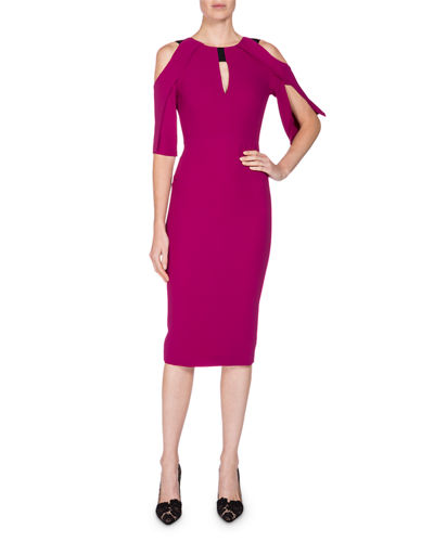 Cold-Shoulder Keyhole Sheath Dress