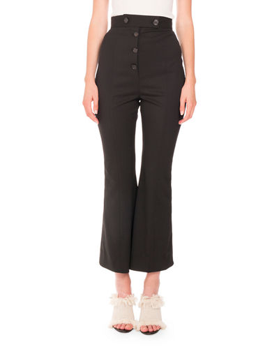 Proenza Schouler Flared Wool Suiting Pants