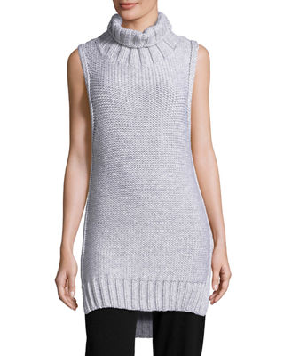 Dominic Turtleneck Sleeveless Sweater