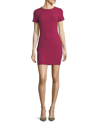 Manhattan Fitted Short-Sleeve Mini Dress
